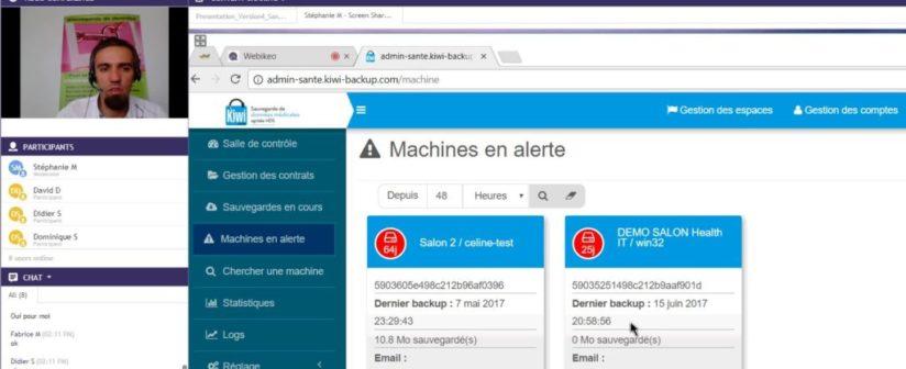 Replay webinar sauvegarde de données de santé